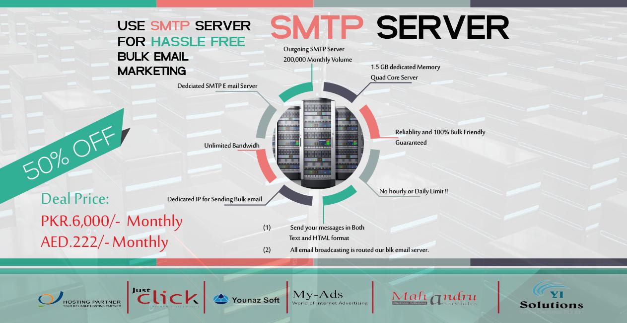 Deals for Web Hosting Pakistan | Deals for SMTP Servers Pakistan